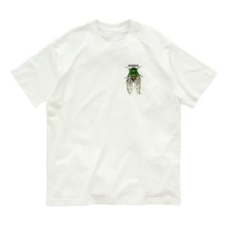 セミ付いてますよ Organic Cotton T-shirts