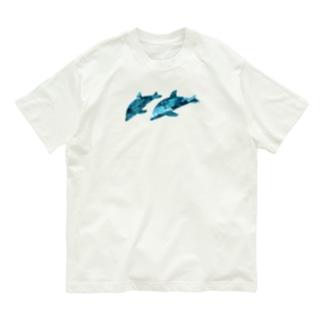 2匹のイルカ Organic Cotton T-shirts