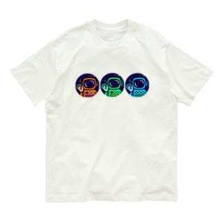 窓覗き宇宙飛行士ーズ Organic Cotton T-shirts