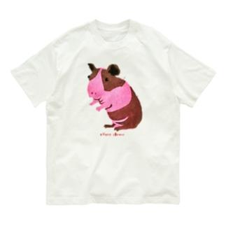 スキニーギニアピッグ ステンシル画 Organic Cotton T-Shirt