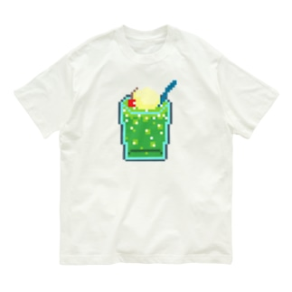 ドッド画メロンクリームソーダ Organic Cotton T-shirts