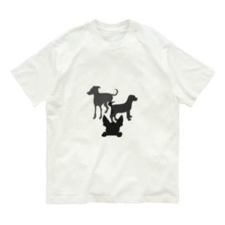 犬のシルエット Organic Cotton T-Shirt