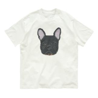 フレンチブルドッグ (黒) Organic Cotton T-shirts