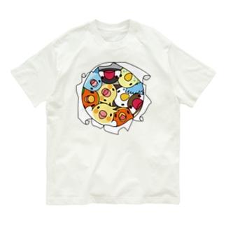 三密です!むちむち鳥まみれ【まめるりはことり】 Organic Cotton T-shirts