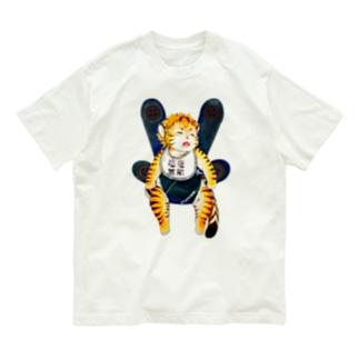 おねんねワータイガーベビー(フルカラー) Organic Cotton T-shirts