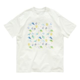 めっちゃセキセイインコちゃん【まめるりはことり】 Organic Cotton T-shirts