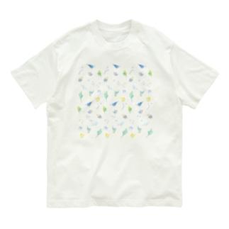 いっぱいセキセイインコちゃん【まめるりはことり】 Organic Cotton T-shirts
