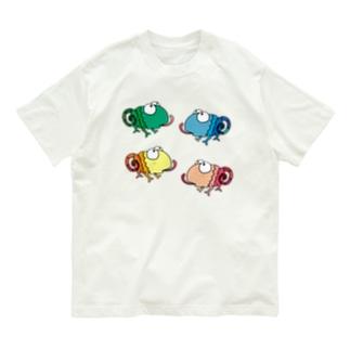 カメレオンズ 食事中 Organic Cotton T-shirts