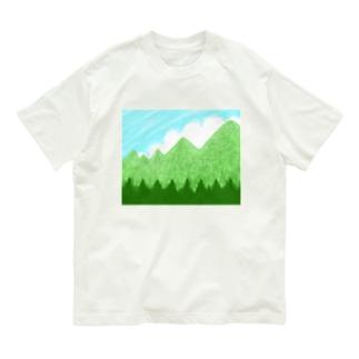 青空と雲と青い山脈ズ Organic Cotton T-shirts