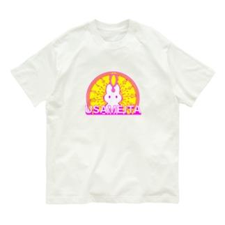 閃きウサギ USAMEITA 後光バージョン Organic Cotton T-shirts