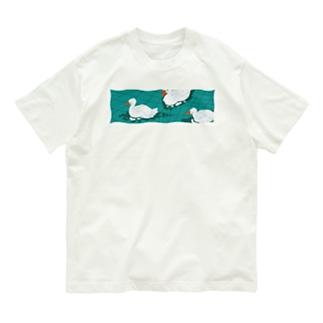 ゆらゆらアヒル池 Organic Cotton T-shirts