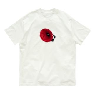 和傘と柴犬BIG Organic Cotton T-shirts