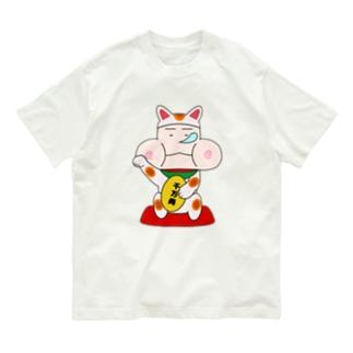 ダルぷく招き猫 Organic Cotton T-shirts