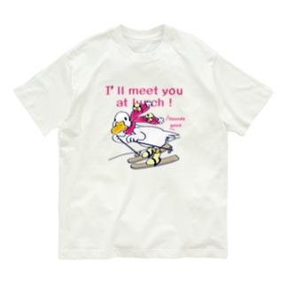 CT75あひるのおひるさんのスキーA Organic Cotton T-shirts