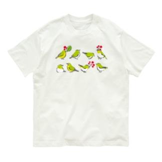 メジロとメグロたち(野鳥たち) Organic Cotton T-shirts