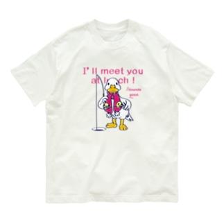 CT76あひるのおひるさんのサカナ釣り Organic Cotton T-shirts
