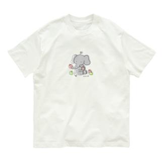 ぞうさんとりんご Organic Cotton T-shirts
