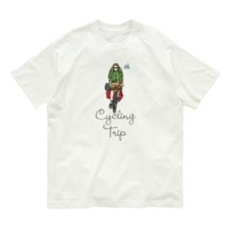 自転車に乗って旅に出る Organic Cotton T-shirts