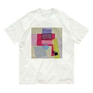 ララ Abstract letter series Organic Cotton T-shirts