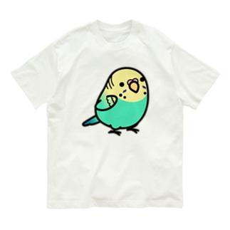 Chubby Bird セキセイインコ Organic Cotton T-shirts