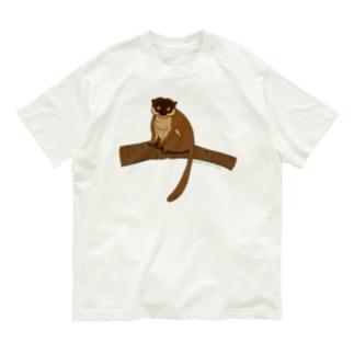 ブラウンキツネザル Organic Cotton T-shirts