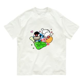 もぐもぐ文鳥ず② Organic Cotton T-shirts