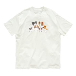パピヨン大集合 Organic Cotton T-Shirt