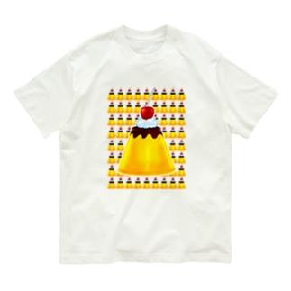 チェリー🍒クリーム付き🌟ビックプリン🍮 Organic Cotton T-shirts