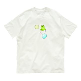ふにゃふにゃカエルさん(シンプル) Organic Cotton T-shirts