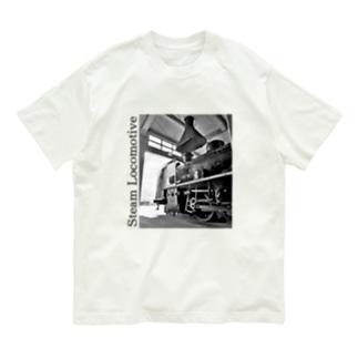 扇形車庫にスタンバイ中のSL Organic Cotton T-shirts