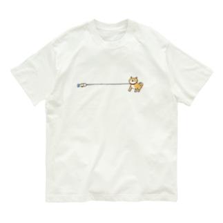 帰りたくない柴犬 Organic Cotton T-Shirt