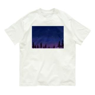 濃紺と紫の星空 Organic Cotton T-shirts