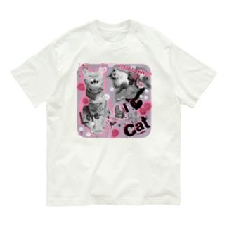 いちごさん家の猫I♡cat Organic Cotton T-shirts