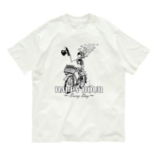 """HAPPY HOUR""(B&W) #1 Organic Cotton T-Shirt"