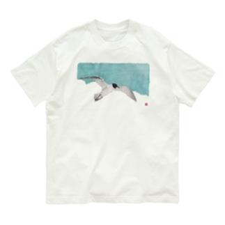 空にかもめ Organic Cotton T-shirts