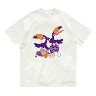 フルーツとオオハシ Organic Cotton T-shirts