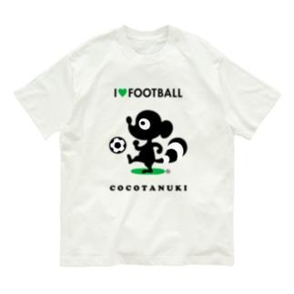 サッカー大好きココタヌキ Organic Cotton T-shirts