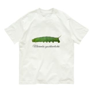 モモスズメ幼虫と成虫 Organic Cotton T-shirts