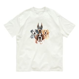 賢くて優しい、大きい犬たち。 Organic Cotton T-shirts