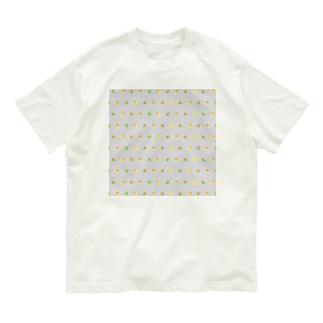 ちみまめコザクラインコちゃん【まめるりはことり】 Organic Cotton T-shirts