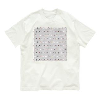 ちみまめ文鳥ちゃん【まめるりはことり】 Organic Cotton T-shirts