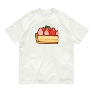 すてきないちごタルト Organic Cotton T-shirts