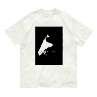 目つき悪い猫ちゃん 黒 Organic Cotton T-shirts