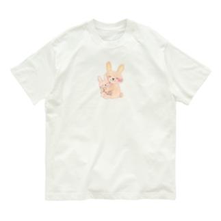 そばにいてくれるうさぎ Organic Cotton T-shirts