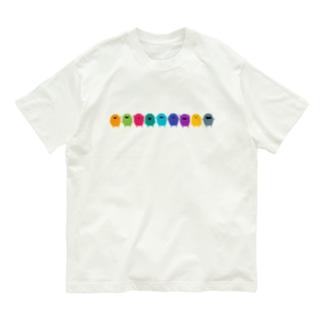 カラフルモンスター(横並び) Organic Cotton T-shirts