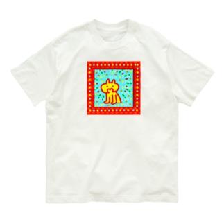 何かにハッ!ときた!ねこさん Organic Cotton T-shirts