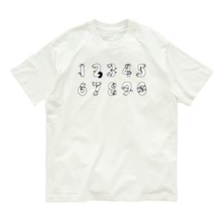 ねこねこ数字ちゃん Organic Cotton T-shirts