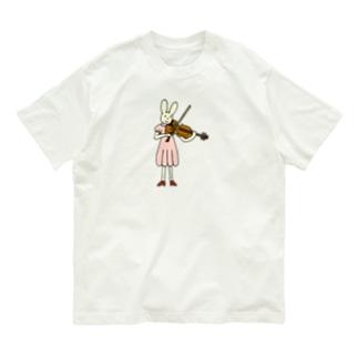 ビオラうさぎさん Organic Cotton T-shirts