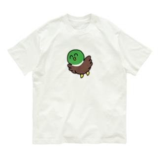 そらとぶかもちゃん Organic Cotton T-shirts