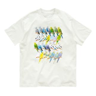 セキセイインコいろいろ Organic Cotton T-shirts